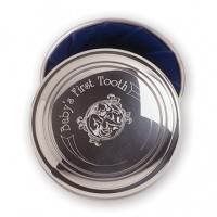 Salisbury Pewter Baby's First Tooth Box - Royal Blue Liner