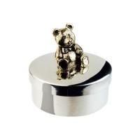 Salisbury Pewter Teddy Bear Keepsake Box