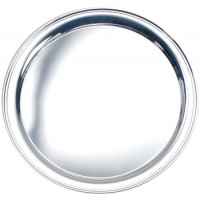 Salisbury Round Sterling Silver Tray - 12""