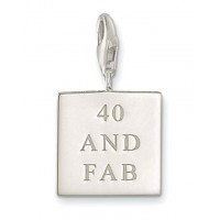 40 AND FAB Charm - Sterling Silver
