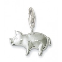 Pig Charm - Sterling Silver