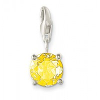 November Birthstone Pendant - Yellow CZ