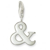 & Sign Charm - Sterling Silver