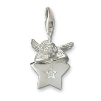 Putto on Silver Star Charm