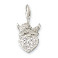 Putto on Heart Charm