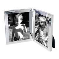 Salisbury Sterling Silver Double Picture Frame - 4 x 6