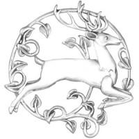 Sterling Silver Reindeer Ornament