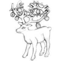 Sterling Silver Decorated Reindeer Ornament