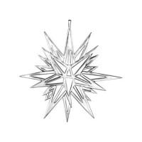 Sterling Silver Moravian Ornament