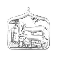 Sterling Silver Nativity Ornament