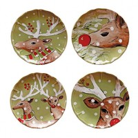 Casafina Deer Friends Salad/Dessert Plates - Set of 4