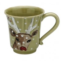 Casafina Deer Friends Coffee Mug - 12 oz