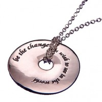 Sterling Silver Gandhi Necklace - Be the Change