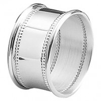 Empire Sterling Silver Beaded Napkin Ring - Single