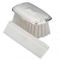 Empire Sterling Shield Boy's Comb & Brush Set