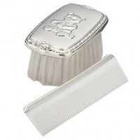 Sterling Teddy Bear Boy's Comb & Brush