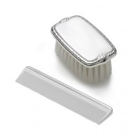 Empire Pewter Plain Boy's Comb & Brush Set