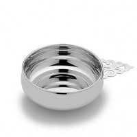 Empire Sterling Silver Pierced Handle Baby Porringer