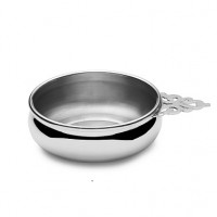 Empire Pewter Pierced Handle Baby Porringer