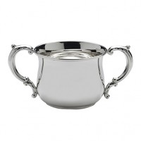 Empire Sterling Grand Pot Belly Double Handled Baby Cup
