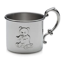 Empire Pewter Teddy Bear Baby Cup