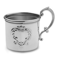Empire Pewter Beaded Scroll Baby Cup