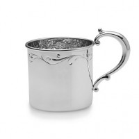Empire Sterling Silver Grand Floral Baby Cup
