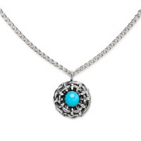 Galmer Turquoise Bamboo Pendant Necklace