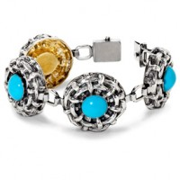 Galmer Turquoise Bamboo Bracelet