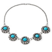 Galmer Turquoise Bamboo Necklace