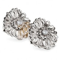 Galmer Sparkling Chrysanthemum Earrings