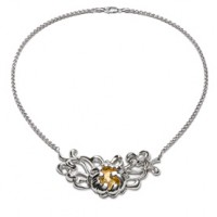 Galmer Peony Center Bloom Necklace