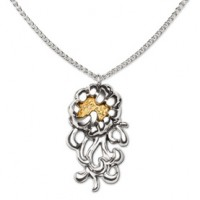 Galmer Stemmed Peony Pendant/Necklace