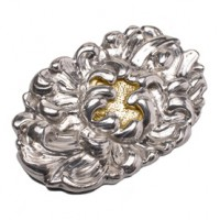 Galmer Touch of Gold Peony Brooch