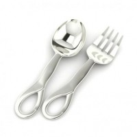 Sterling Silver Sophie Baby Spoon & Fork Set