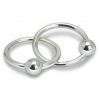 Double Ring Sterling Silver Baby Teether Rattle