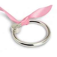 Flat Ring Sterling Silver Baby Teether Rattle