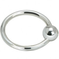 Single Ring Sterling Silver Baby Teether