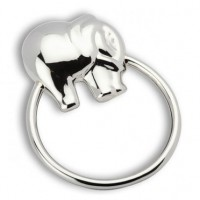 Elephant Ring Sterling Silver Baby Teether Rattle