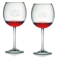 Ballon Wine Glasses - Monogram (Set of 4)