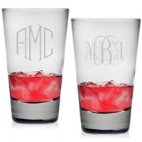 Highball Glasses - Monogram (Set of 4)
