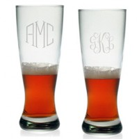 Grand Pilsner Glasses - Monogram (Set of 4)