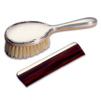 Lunt Sterling Silver Girls Brush & Comb Set