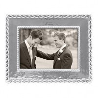 Mariposa Meridian Textured Twist Engravable Picture Frame - 5 x 7