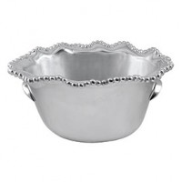 Mariposa Pearled Wavy Medium Ice Bucket
