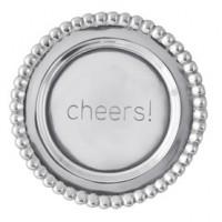 Mariposa Beaded Wine Plate - Cheers!