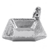 Mariposa Squirrel Nut Dish - Available from SilverGallery.com