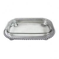 Mariposa Pearled Small Casserole Caddy