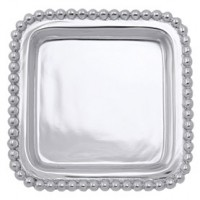 Mariposa Engravable Beaded Square Tray