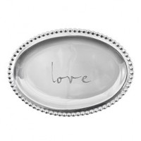 "Mariposa ""love"" Small Oval Statement Tray"